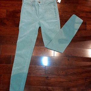 NWT Anthropologie mint green cords